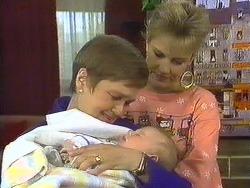 Tina Bentley, Jamie Clarke, Daphne Clarke in Neighbours Episode 0587