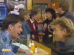Mike Young, Jane Harris, Nell Mangel, Scott Robinson in Neighbours Episode 0587
