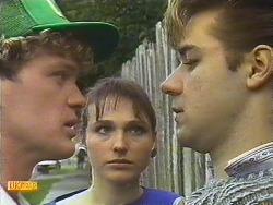 Henry Ramsay, BB Larkin, Kenny Larkin in Neighbours Episode 0589