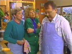 Eileen Clarke, Madge Bishop, Harold Bishop in Neighbours Episode 0591