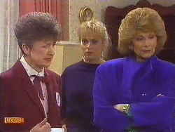 Nell Mangel, Jane Harris, Madge Bishop in Neighbours Episode 0591