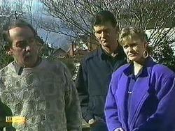 Allen Lawrence, Des Clarke, Daphne Clarke in Neighbours Episode 0595