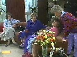 Beverly Marshall, Daphne Clarke, Lucy Robinson, Helen Daniels in Neighbours Episode 0595