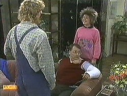 Henry Ramsay, Harold Bishop, Lucy Robinson in Neighbours Episode 0595