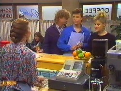 Sally Wells, Henry Ramsay, Mike Young, Daphne Clarke in Neighbours Episode 0603