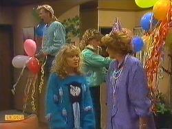 Scott Robinson, Charlene Mitchell, Henry Ramsay, Madge Bishop in Neighbours Episode 0604