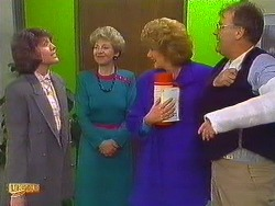 Beverly Marshall, Eileen Clarke, Madge Bishop, Harold Bishop in Neighbours Episode 0604
