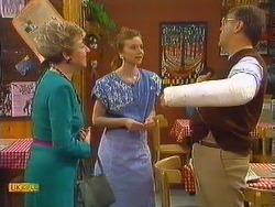 Eileen Clarke, Sally Wells, Harold Bishop in Neighbours Episode 0604