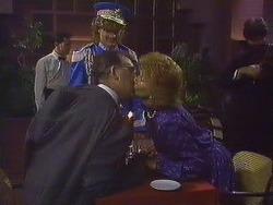 Harold Bishop, Henry Ramsay, Madge Bishop in Neighbours Episode 0609
