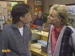 Mike Young, Sally Wells, Scott Robinson in Neighbours Episode 0610