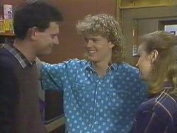 Des Clarke, Henry Ramsay, Sally Wells in Neighbours Episode 0610