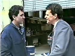 Greg Cooper, Des Clarke in Neighbours Episode 0612