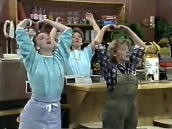Sally Wells, Eileen Clarke, Charlene Mitchell in Neighbours Episode 0612