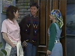 Chrissy, Mike Young, Lucy Robinson in Neighbours Episode 0613