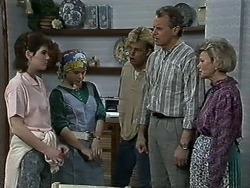 Chrissy, Lucy Robinson, Scott Robinson, Jim Robinson, Helen Daniels in Neighbours Episode 0614