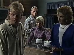 Scott Robinson, Jim Robinson, Helen Daniels, Madge Bishop in Neighbours Episode 0614