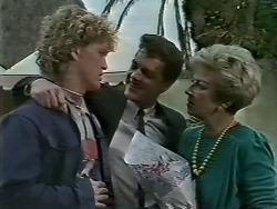 Henry Ramsay, Paul Robinson, Eileen Clarke in Neighbours Episode 0615