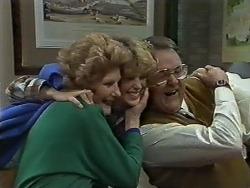 Madge Bishop, Charlene Mitchell, Harold Bishop in Neighbours Episode 0615