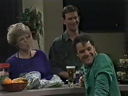 Eileen Clarke, Des Clarke, Paul Robinson in Neighbours Episode 0615