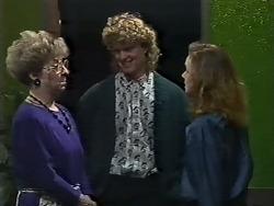 Eileen Clarke, Henry Ramsay, Sally Wells in Neighbours Episode 0615