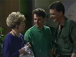 Eileen Clarke, Paul Robinson, Des Clarke in Neighbours Episode 0615
