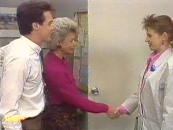 Paul Robinson, Helen Daniels, Melanie Pearson in Neighbours Episode 0616