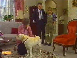 Nell Mangel, Bouncer, Paul Robinson, Charlene Mitchell in Neighbours Episode 0618