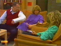 Harold Bishop, Madge Bishop, Charlene Mitchell in Neighbours Episode 0618