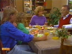 Scott Robinson, Charlene Mitchell, Madge Bishop, Harold Bishop in Neighbours Episode 0618