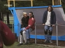 Joanna Hartman, Rob Evans, Casper Mack in Neighbours Episode 2697