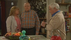 Carolyn Johnston, Harold Bishop, Lou Carpenter in Neighbours Episode 6180