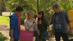 Chris Pappas, Natasha Williams, Summer Hoyland, Andrew Robinson in Neighbours Episode 6180