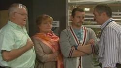 Harold Bishop, Carolyn Johnston, Toadie Rebecchi, Karl Kennedy in Neighbours Episode 6182
