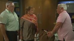 Harold Bishop, Carolyn Johnston, Lou Carpenter in Neighbours Episode 6182