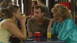 Sonya Mitchell, Lucas Fitzgerald, Carolyn Johnston in Neighbours Episode 6183