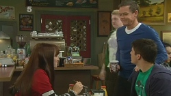 Summer Hoyland, Paul Robinson, Chris Pappas in Neighbours Episode 6185