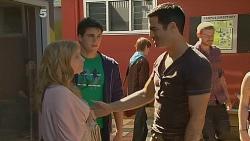 Natasha Williams, Chris Pappas, Ivan DeMarco in Neighbours Episode 6185
