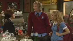 Summer Hoyland, Andrew Robinson, Natasha Williams in Neighbours Episode 6187