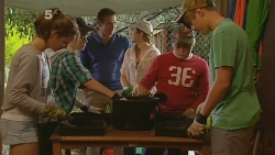 Sophie Ramsay, Michael Williams, Sonya Mitchell, Callum Jones in Neighbours Episode 6189