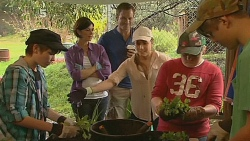 Cathy McPhee, Michael Williams, Sonya Mitchell, Callum Jones in Neighbours Episode 6189