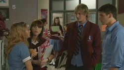 Natasha Williams, Summer Hoyland, Andrew Robinson, Chris Pappas in Neighbours Episode 6193