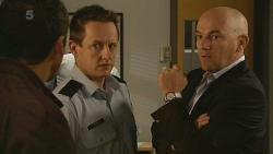 Toadie Rebecchi, Const. Ian McKay, Supt. Duncan Hayes in Neighbours Episode 6198