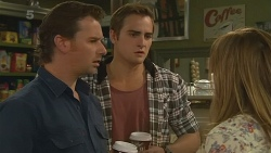 Lucas Fitzgerald, Kyle Canning, Sonya Mitchell in Neighbours Episode 6202