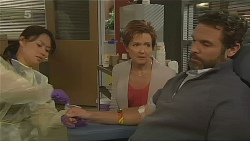 Nurse Jodie Smith, Susan Kennedy, Jim Dolan in Neighbours Episode 6203
