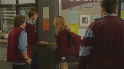 Callum Jones, Dean Harman, Natasha Williams, Chris Pappas in Neighbours Episode 6213