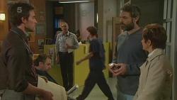 Rhys Lawson, Karl Kennedy, Jim Dolan, Susan Kennedy in Neighbours Episode 6225