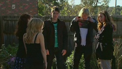 Summer Hoyland, Natasha Williams, Chris Pappas, Andrew Robinson, Jade Mitchell in Neighbours Episode 6229