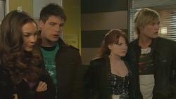 Jade Mitchell, Chris Pappas, Summer Hoyland, Andrew Robinson in Neighbours Episode 6230