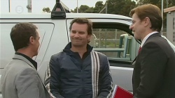 Paul Robinson, Lucas Fitzgerald, Dominic Clare in Neighbours Episode 6235