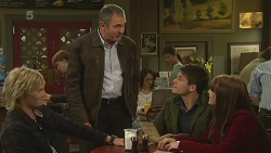Andrew Robinson, Karl Kennedy, Chris Pappas, Summer Hoyland in Neighbours Episode 6238
